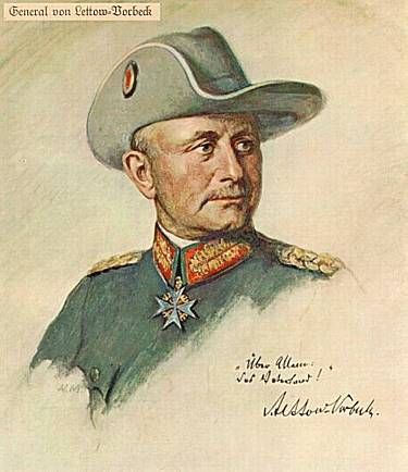 Part I. Paul von Lettow-Vorbeck (1870-1964) Appointed the military commander of German East Africa, Jan. 1914, his German troops and native askaris remained undefeated throughout the war. He was the master of bush warfare and cunning tactics, launching frequent lightning attacks that kept the British forces off balance and unable to catch him.