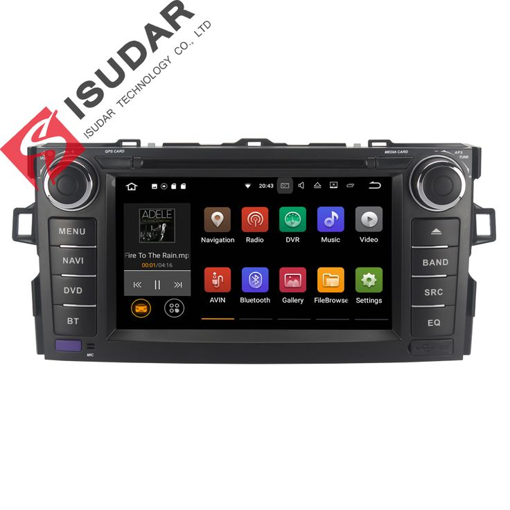 Android 7.1.1 Two Din 7 Inch Car DVD Player For TOYOTA/AURIS/Altis/COROLLA 2012 2013 RAM 1G/2G WIFI GPS Navigation Radio USB //Price: $326.69 & FREE Shipping //     #navigation