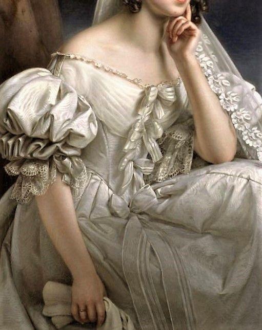Portrait of Josephine Stieler as a Bride by Joseph Karl Stieler