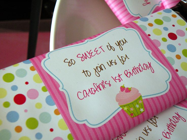 love the idea of a cupcake party! Cupcake Theme Birthday Party Candy ...