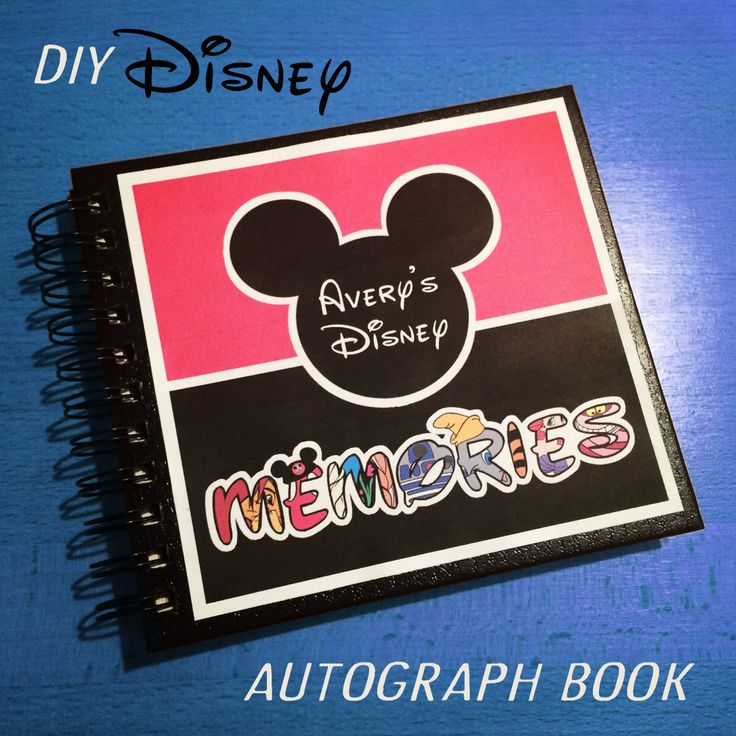 DIY Disney Autograph Memory Book