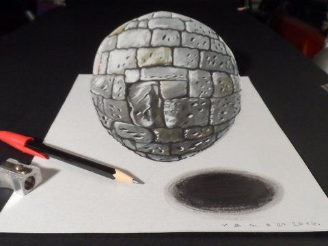 Drawing a realistic stone sphere. 3 dimension stone ball. Stone texture. Trick art the levitating stone ball. How to draw a realistic stone ball.<br />Mixed media. Materials used: <br />Pastell paper: light gray.  <br />H graphit pencil (Derwent) <br />Markers: Letraset PROMARKER <br />Black and white charcoal pencil.<br />White gel pen.<br />Grey Stabilo marker 0,4.<br />Black Faber - Castell pen 0,7. <br />Soft eraser.<br />Music: <br />Heavyweight - Ethan Meixsell,<br />For sale: <a…