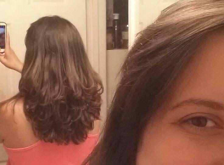 Long wavy layered hair