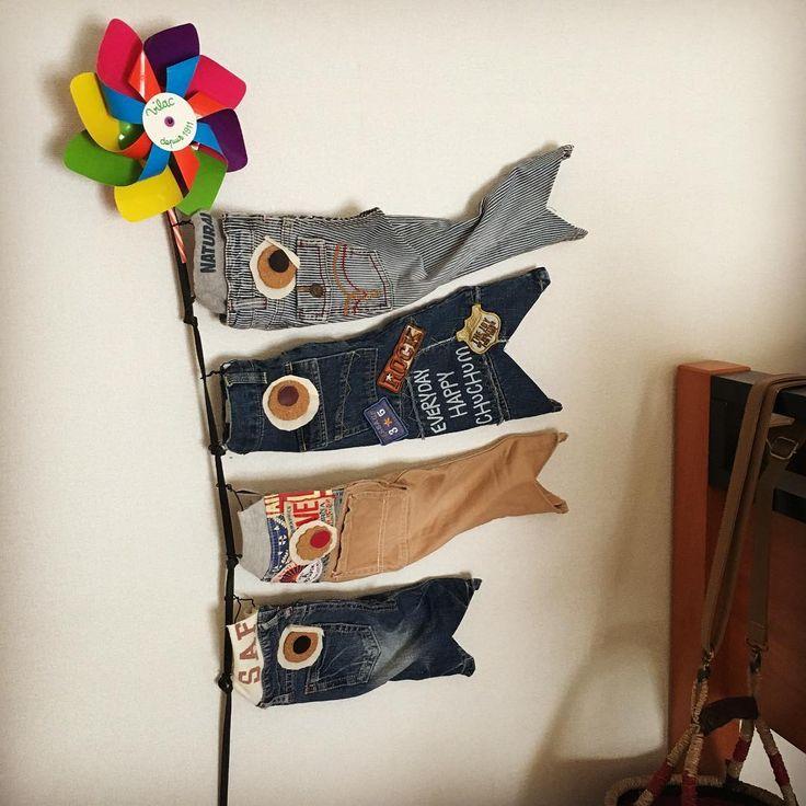室内に飾れる鯉のぼりのハンドメイドアイデア集。小さくなった子供服から折り紙を使ったものまで、様々な鯉のぼりをご紹介します!