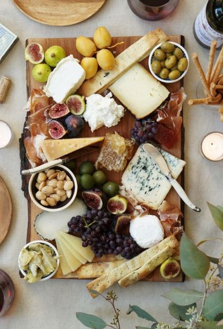 We always love a good Charcuterie board. It's a casual yet thoughtful way to feed guests while entertaining.