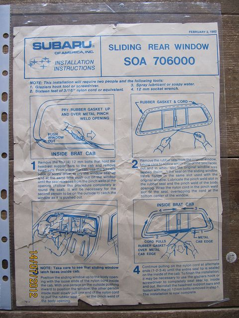 how to fit a BRAT sliding rear window... | by Sholing Uteman