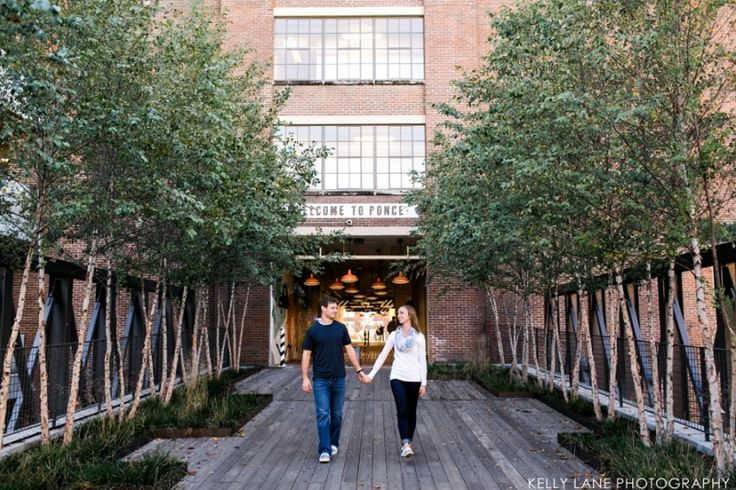 Ponce City Market and Piedmont Park Engagement Evan and Brittney-046