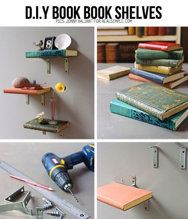 17 best images about old book crafts on pinterest for Diy book rack
