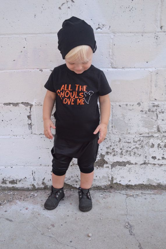 All The Ghouls Love Me Boy Halloween Shirt Kids Ghost