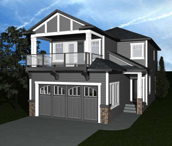 Measuring In At 28 39 Wide This Three Bedroom Home Features A Covered Balcony Off Of The Master