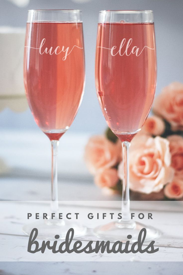 Bridesmaid gifts for cute bridesmaid proposals! Can fit into a box and be given as a gift! Ill probably have these for the wedding day morning so that we can all be drinking mimosas while we get ready! #ad