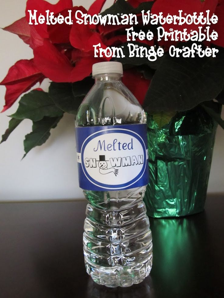 melted snowman water bottles and blog headers on pinterest. Black Bedroom Furniture Sets. Home Design Ideas