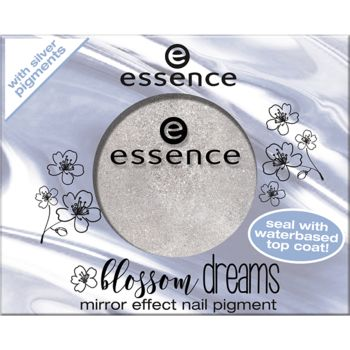 blossom dreams - mirror effect nail pigment 01 mirror, mirror on my nails… - essence cosmetics