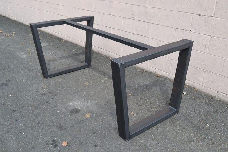 Custom Made Industrial Style Steel Table Base