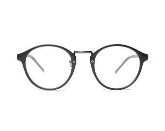 Black round glasses panto Johnny Depp Style Vintage retro prescription Frames woman mens Hipster Nerd VTG Eyeglasses