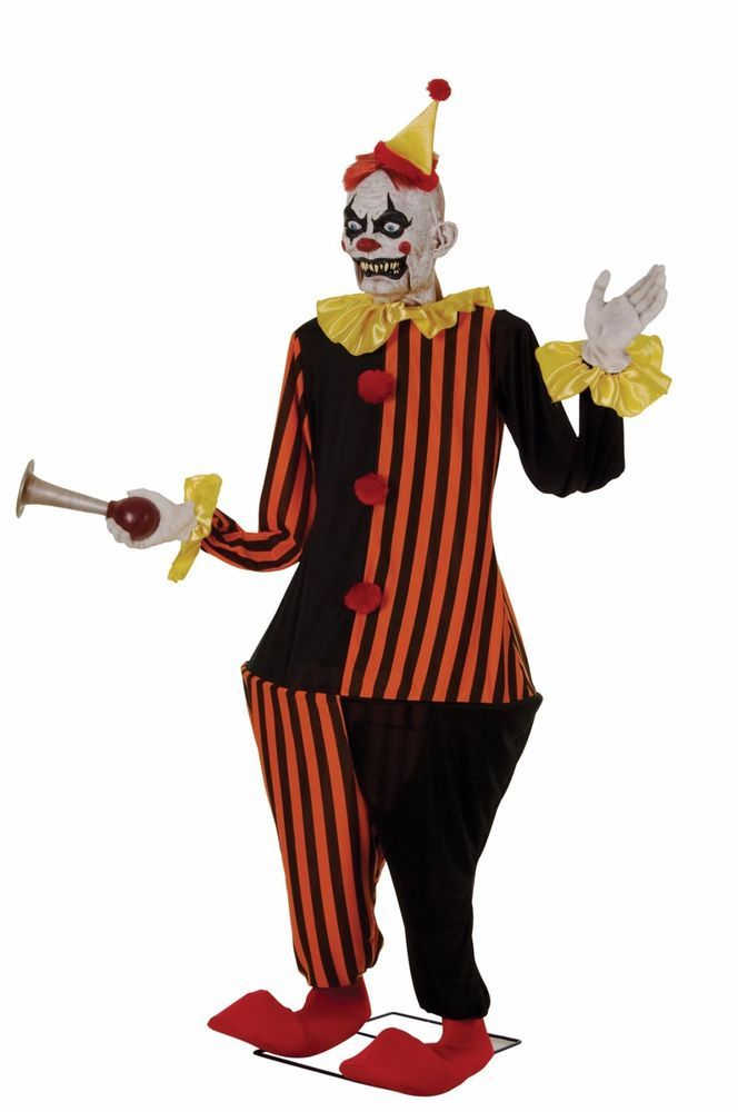 life size animated evil halloween clown decoration in collectibles holiday seasonal halloween - Animated Halloween Decorations