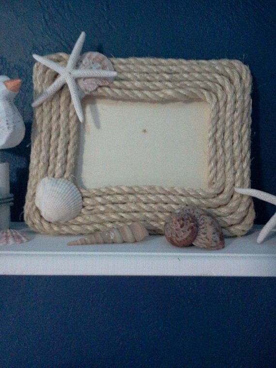 Nautical picture frame by FromTheCoast2TheCity on Etsy, $14.00