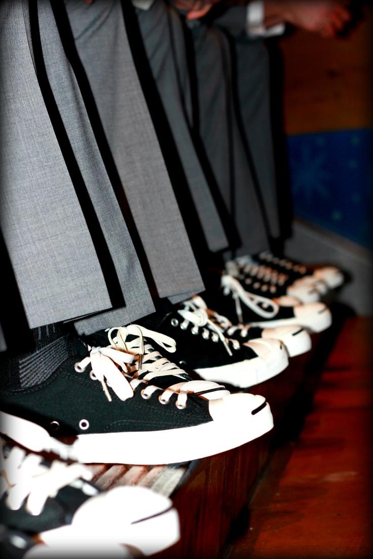 Groom + groomsmen shoes: jack purcell converse
