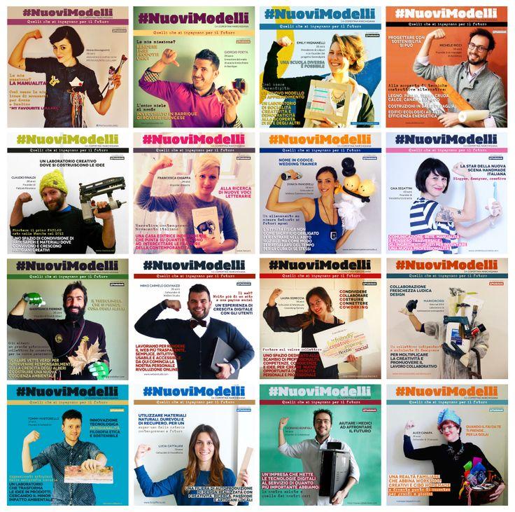 Tutte le 16 copertine uscite della 1° edizione di #NuoviModelli da copertina marchigiana