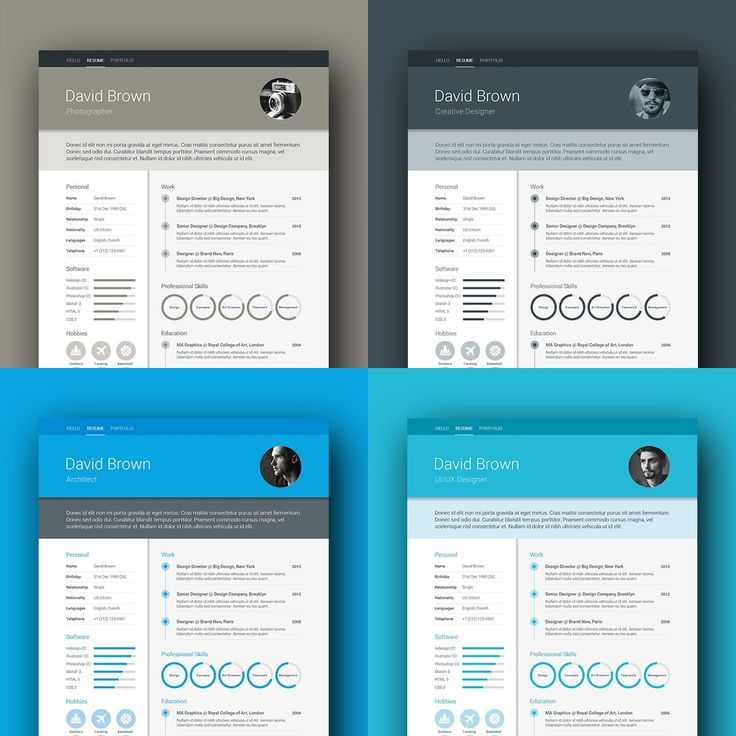 free creative resume templates that stand out%0A Colour option  Material Resume template by ikono me    Creative Resume  Templates