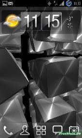Живые обои Металлические кубики на Андроид бесплатно