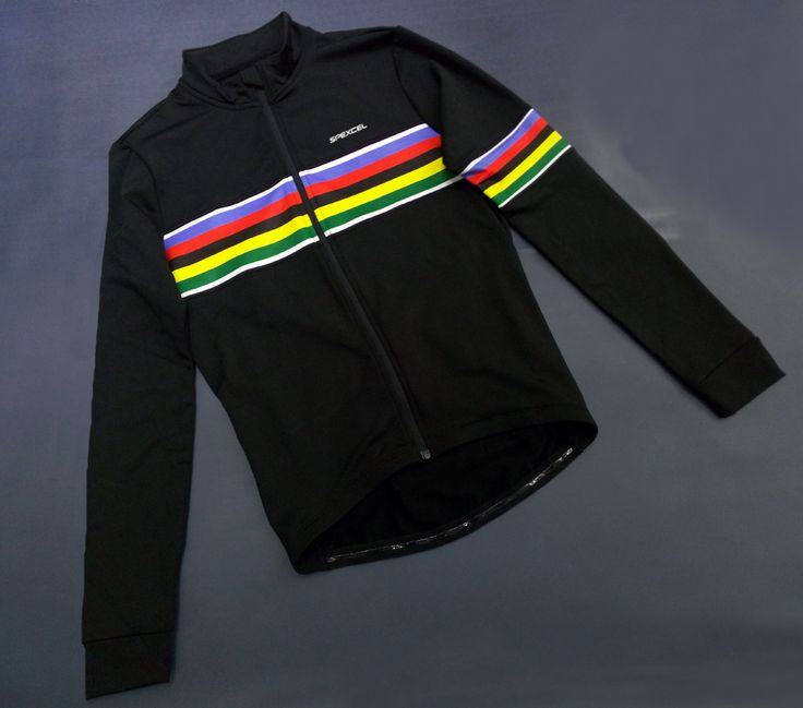 ==> [Free Shipping] Buy Best NEW ARRIVE UCI world champion rainbow black winter thermal fleece Long Sleeve Cycling Jersey Bike Bicycle Wear Ropa Ciclismo Online with LOWEST Price | 32751365650