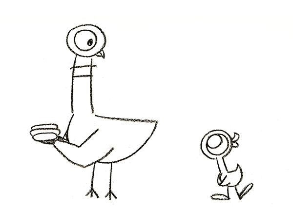 pigeon coloring pages mo willems - photo#24