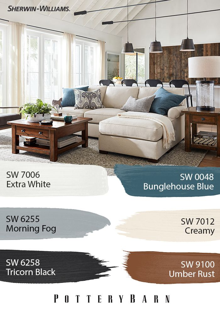 When It Comes To Farmhouse Style Potterybarn Does It Better Than Anyone But Furniture And Decor I Zen Home Decor Interior Design Paint Paint Colors For Home