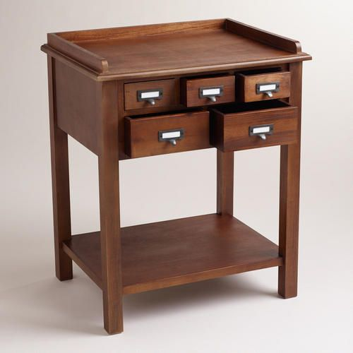 Natural 5-Drawer Preston Table - would make a cool nightstand or small entryway table.