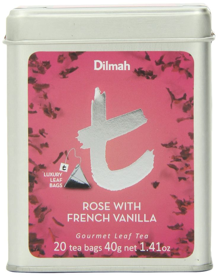 HAPPINESS IN A CUP!  Dilmah T-Series Rose with French Vanilla, 20 Count Luxury Leaf Tea Bags