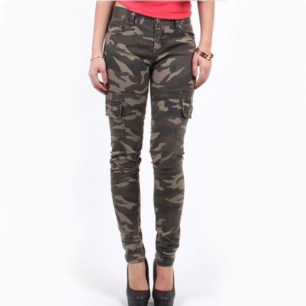 Junior Camo Army Cargo Super Skinny Pants ($20) ❤ liked on Polyvore featuring pants, olive, women's clothing, white pants, tall pants, slim fit cargo pants, cargo pants and camouflage cargo pants