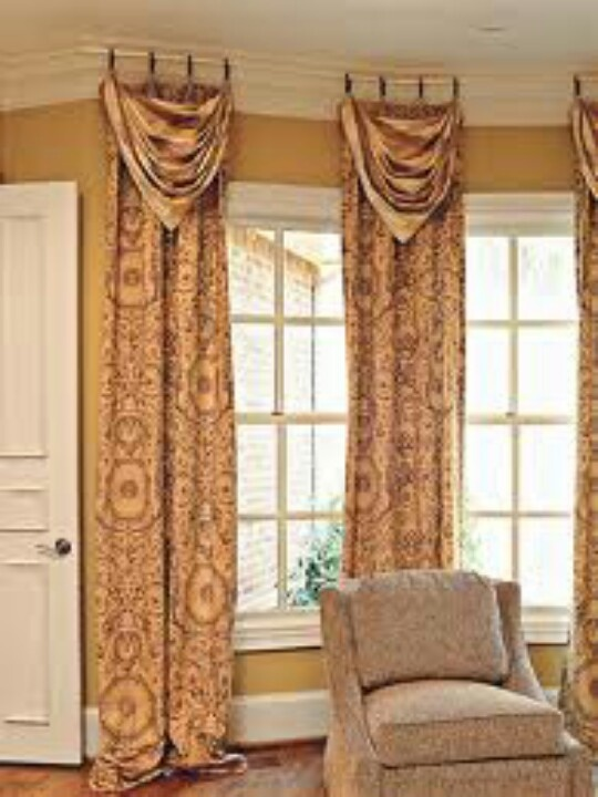 Curtains With Swag Dividing Rooms