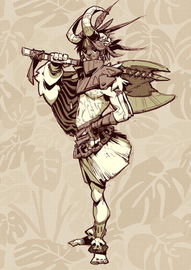 ArtStation - Tribe Characters, Lara Chernyvolk
