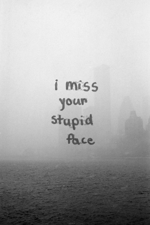 I miss your stupid face...