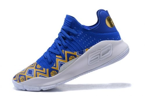 06a143049cbd Original Under Armour Curry 4 Low Dance Cam Mom PE Royal Blue Yellow-White  For Sale - ishoesdesign