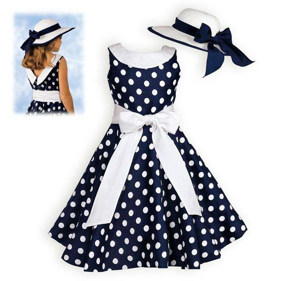 Детское платья в горошек фото