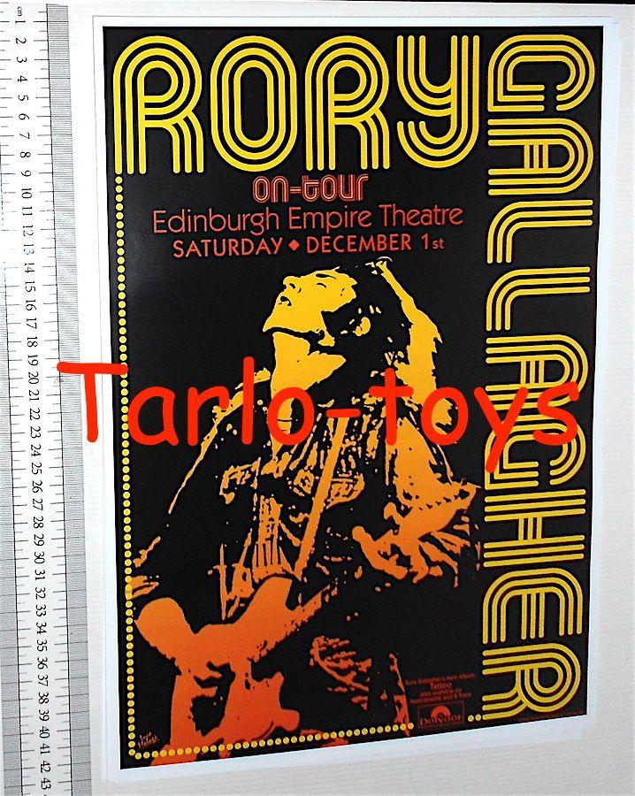 RORY GALLAGHER - Edinburgh, Scotland 1 december 1973 - concert poster