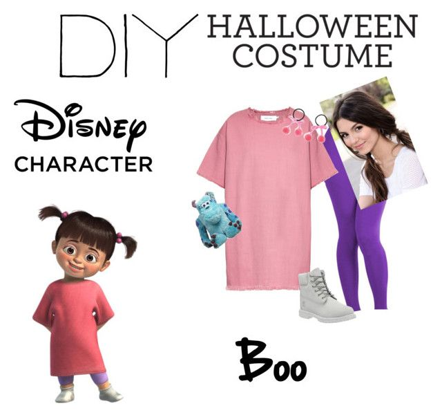 """""""DIY Halloween Costume; Boo from Monsters inc."""" by wonderlandangel ❤ liked on Polyvore featuring Disney, ToBeInStyle, Marques'Almeida, Timberland, Republic of Pigtails and INC International Concepts"""