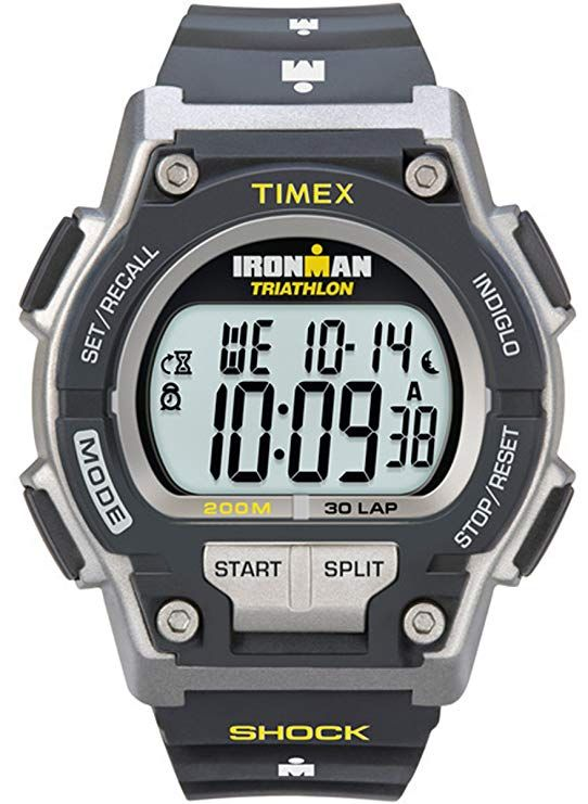 bfb20121e Timex Men's T5K195 Ironman Original 30 Shock Full-Size Black/Yellow Resin  Strap Watch Timex Watch