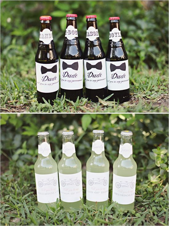 creative way to ask someone to be your bridesmaid or groomsmen