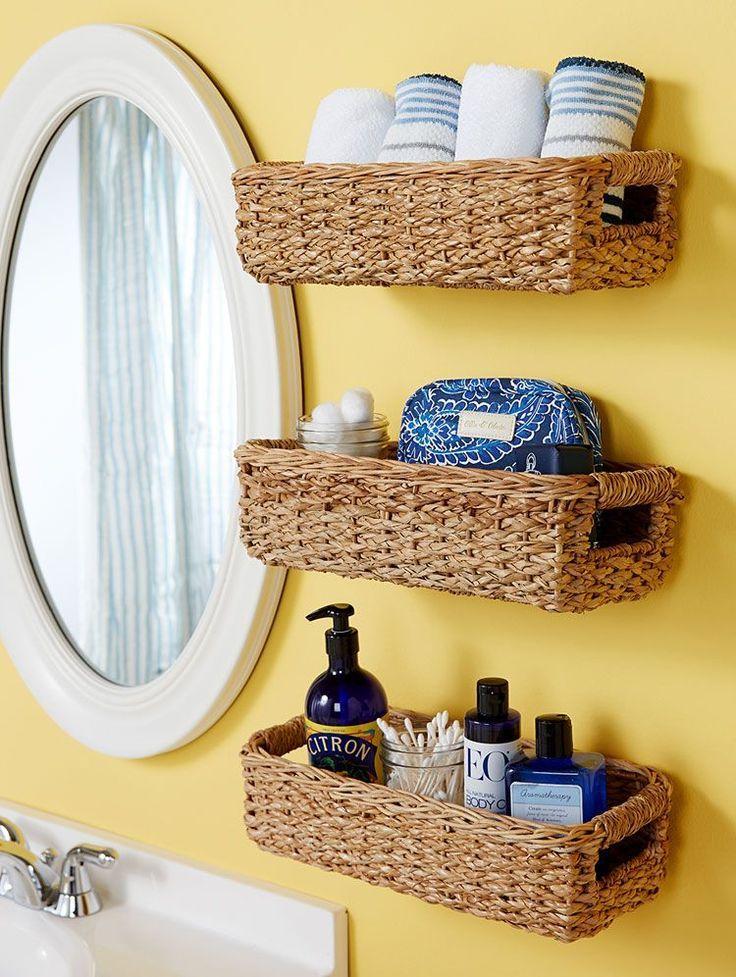 Cheap Ideas Storage Small Bathrooms Inexpensive Creative Organization 2019 67 Beste Bathroom Wall Storage Small Bathroom Storage Bathroom Storage Solutions