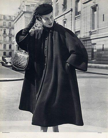 Cristóbal Balenciaga 1951 Coat Photo Pottier
