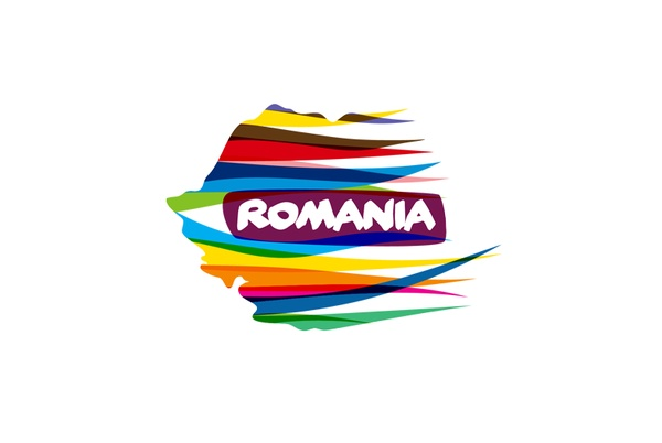 """Romania Tourism"" Logo....reminds of Tina"