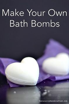 DIY super easy bath bombs. All you need are: baking soda, citric acid, sea salt, and coconut oil. You can customize these all natural bath bombs with your special blend of essential oil. Give this recipe a try!
