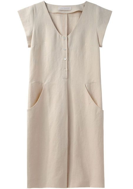 Cacharel - Cap Sleeve Linen Dress