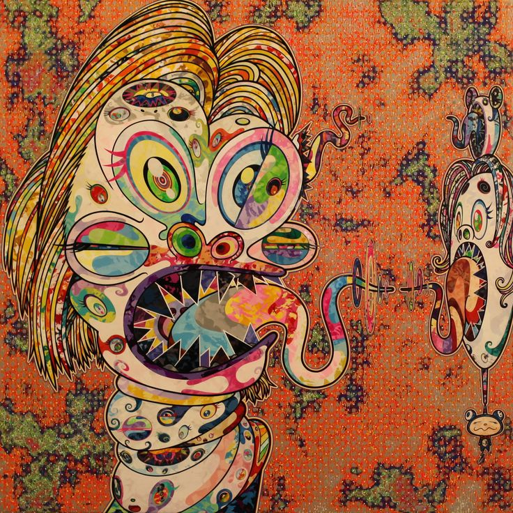 """Homage to Francis Bacon"" 2016 de Takashi MURAKAMI - Galerie Perrotin © Photo…"