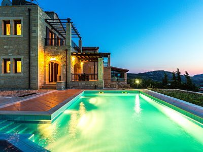 Rethymno villa rental - Villa Thalia boasts a 35m2 private pool!