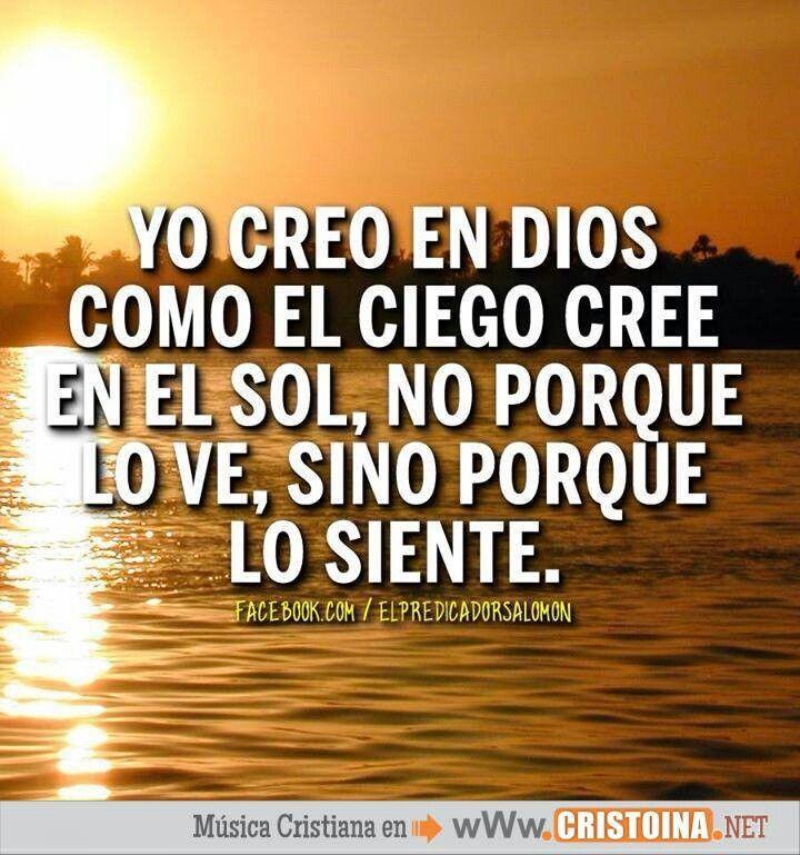 En el viento, en el canto de un ave, el sonido del agua, en el dia y la noche,,,,, en esto y mas esta Dios,.