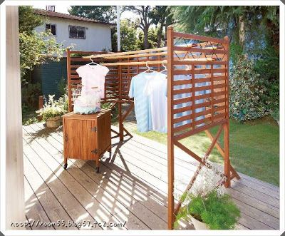 Instead of an ugly clothes line.