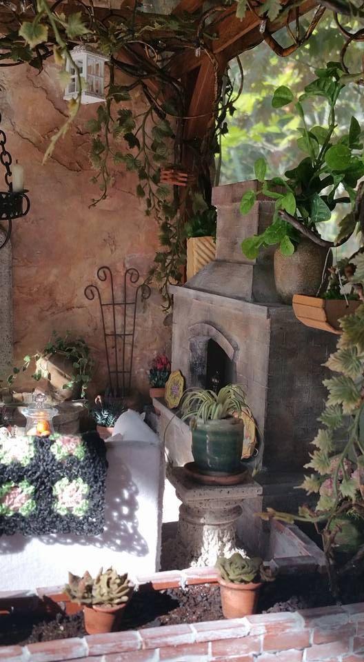 Миниатюрные Тосканские Патио Румбокс Кукольный домик по VintageButterfly66
